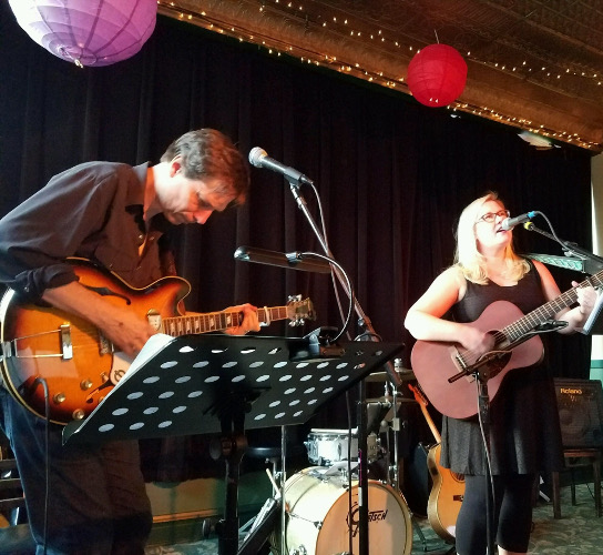 Chrissy Johnson and Steve Dawson at Fitzgeralds